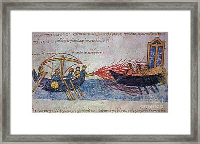 Byzantine Sailors  Framed Print by Photo Researchers