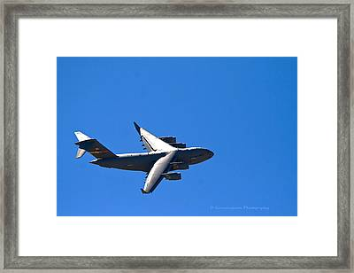 C-17 Turning Right Framed Print