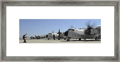C-2a Greyhound Aircraft Start Framed Print by Stocktrek Images