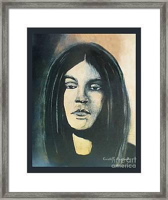C. J. Ramone The Ramones Portrait Framed Print by Kristi L Randall