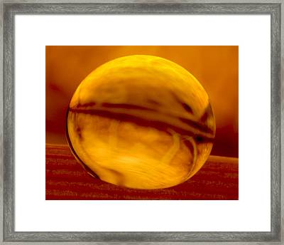 C Ribet Orbscape Living Embers Wake Framed Print by C Ribet