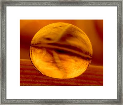 C Ribet Orbscape Living Embers Whalesong Framed Print by C Ribet