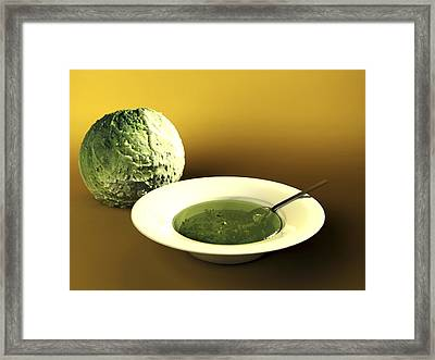 Cabbage And Soup, Computer Artwork Framed Print by Christian Darkin