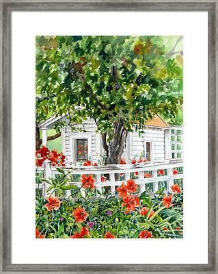Cabin At Long's Gardens Framed Print by Anne Gifford