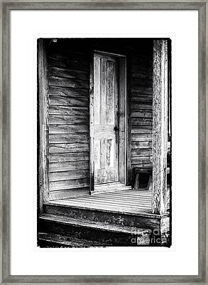 Cabin Door Framed Print by John Rizzuto