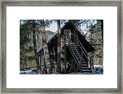 Framed Print featuring the photograph Cabin Get Away by Tikvah's Hope