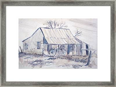Cabin In Castroville Framed Print by Bill Joseph  Markowski