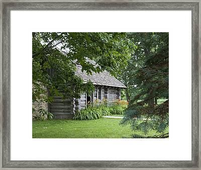 Cabin In The Woods - Little House Wayside Framed Print