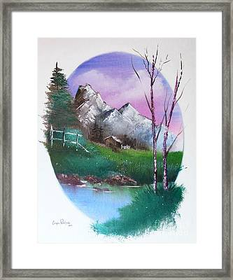 Cabin In The Woods Framed Print by Crispin  Delgado