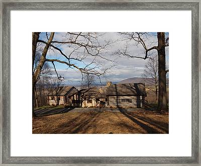 Cabin In The Woods Framed Print by Robert Margetts