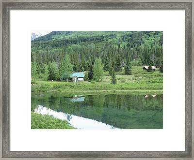 Cabin Living Reflections Framed Print