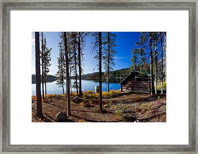 Cabin On Elk Lake Framed Print by Twenty Two North Photography