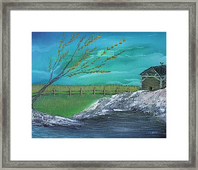 Cabin Framed Print by Shadrach Ensor