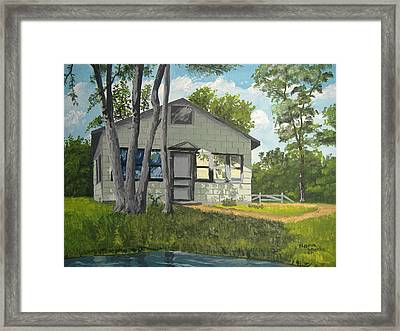 Cabin Up North Framed Print by Norm Starks