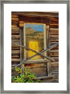 Cabin Windows Framed Print by Jeff Kolker