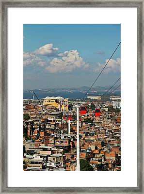 Cable Car Complex Framed Print by Ruy Barbosa Pinto