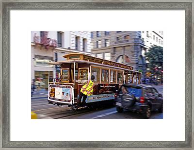 Framed Print featuring the photograph Cable Car by Rod Jones