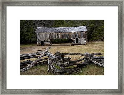 Cable Mill Barn In Cade's Cove No.122 Framed Print