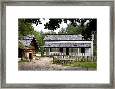 Cable Mill Home Place Cades Cove Framed Print by Mike Aldridge