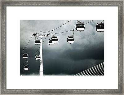 Cable Railway In Lisbon. Framed Print by Pedro Jesús Pacheco Martín