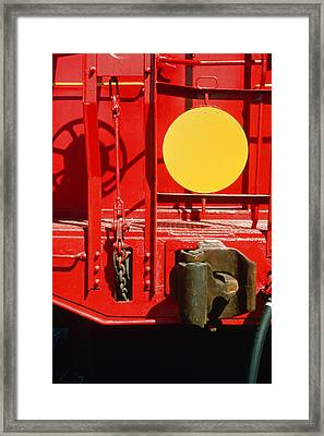 Caboose Framed Print by Jan W Faul