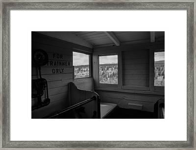 Caboose Steam Train Framed Print by Al Reiner
