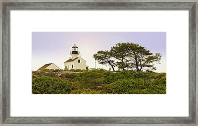 Cabrillo National Park Lighthouse Framed Print by MaryJane Armstrong