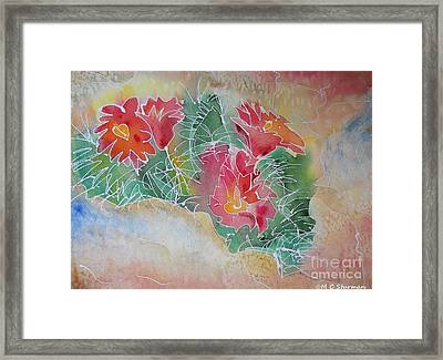 Cactus Art Framed Print by M C Sturman