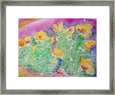 Cactus Color Framed Print by M C Sturman