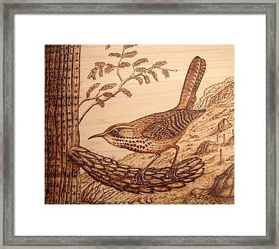 Cactus Wren Framed Print by Susan Rice
