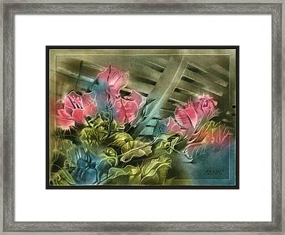 Framed Print featuring the pastel Cactuscompc 2010 by Glenn Bautista