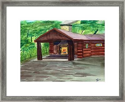 Caddy Camp Framed Print