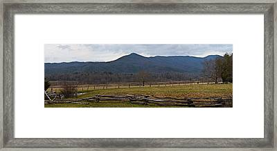 Cade's Cove - Smoky Mountain National Park Framed Print by Christopher Gaston