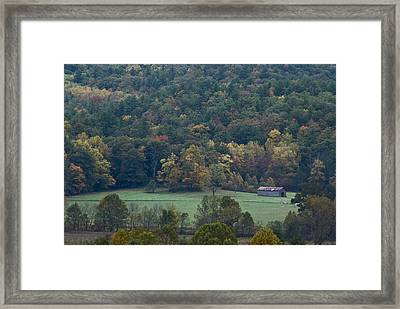 Cade's Cove Barn Framed Print