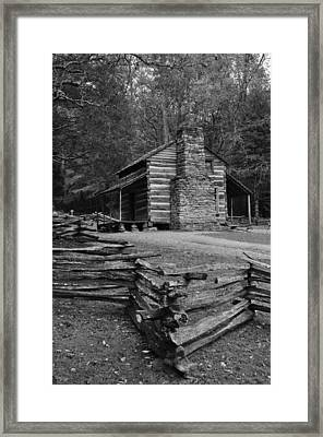 Cades Cove Cabin Framed Print by Jeff Moose