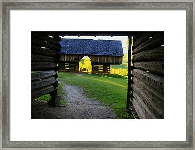 Framed Print featuring the photograph Cade's Cove Cantilever by Doug McPherson