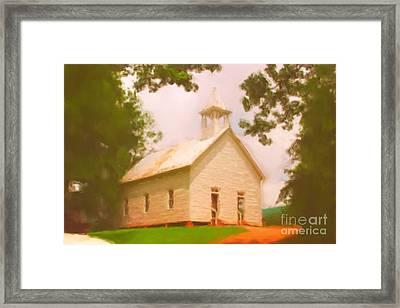 Cade's Cove Church Framed Print by Chris Gafford