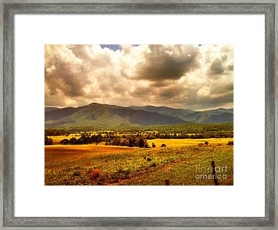 Cades Cove Framed Print by Janice Spivey