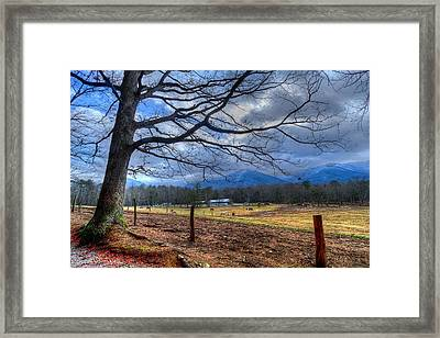Cades Cove Lane Framed Print
