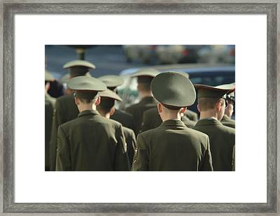 Cadets Walk On Nevesky Prospect Framed Print by Richard Nowitz
