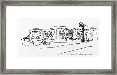 Cadieux Cafe Framed Print by Mack Galixtar