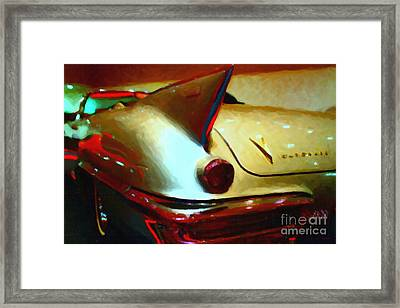 Cadillac Eldorado . Painterly Style Framed Print by Wingsdomain Art and Photography