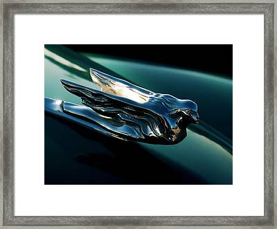 Cadillac Hood Angel Framed Print