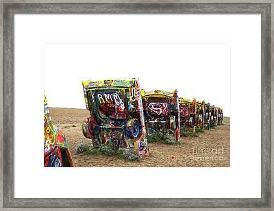Cadillac Ranch Framed Print by Christina A Pacillo