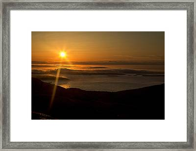 Cadillac Sunrise Framed Print by Sara Hudock