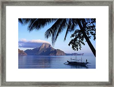 Cadlao Island From El Nido, Sunrise Framed Print by Dallas Stribley