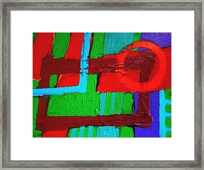 Cadmium Circle Framed Print by John  Nolan