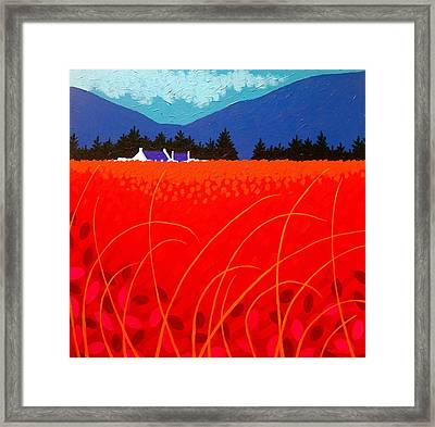 Cadmium Landscape Framed Print by John  Nolan