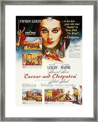 Caesar And Cleopatra, Vivien Leigh Framed Print by Everett