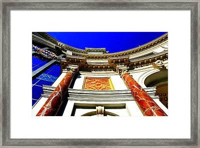 Caesars Palace Architecture Framed Print